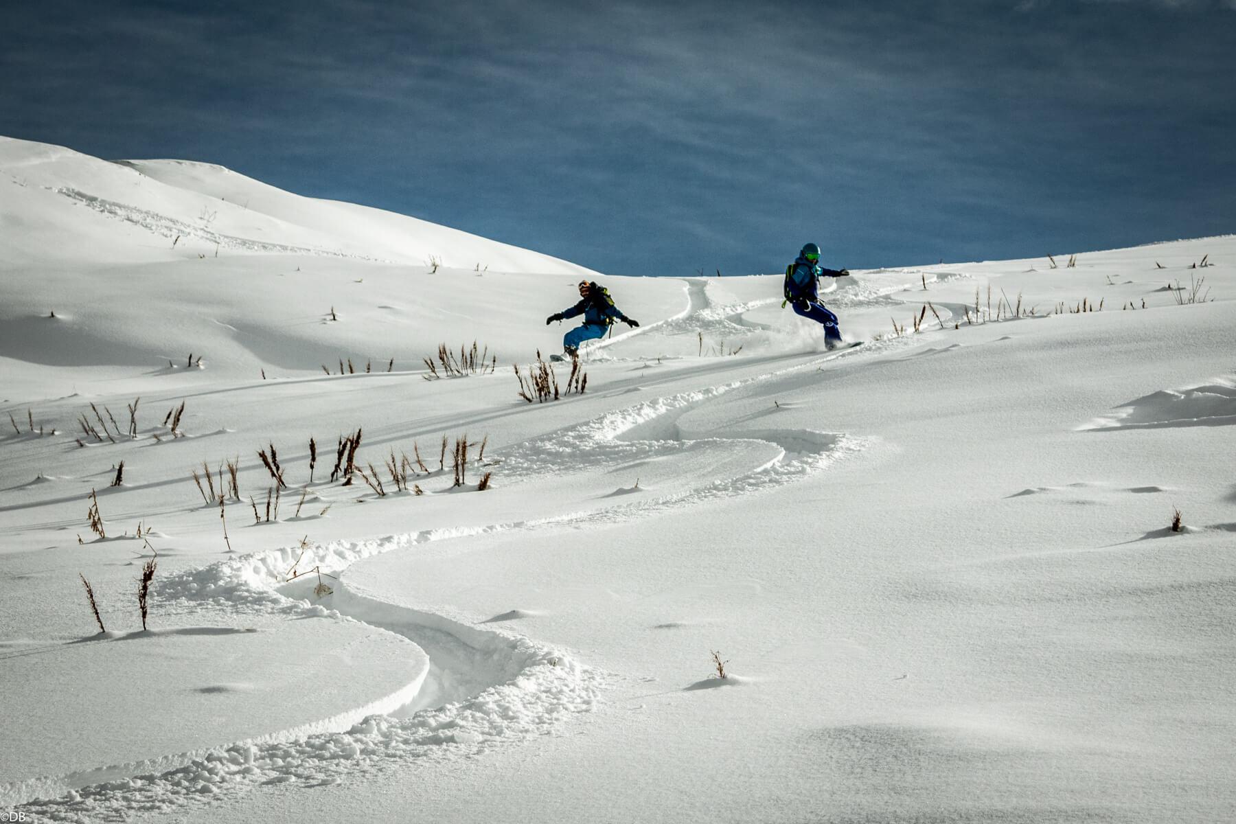 Powsurf en neige poudreuse