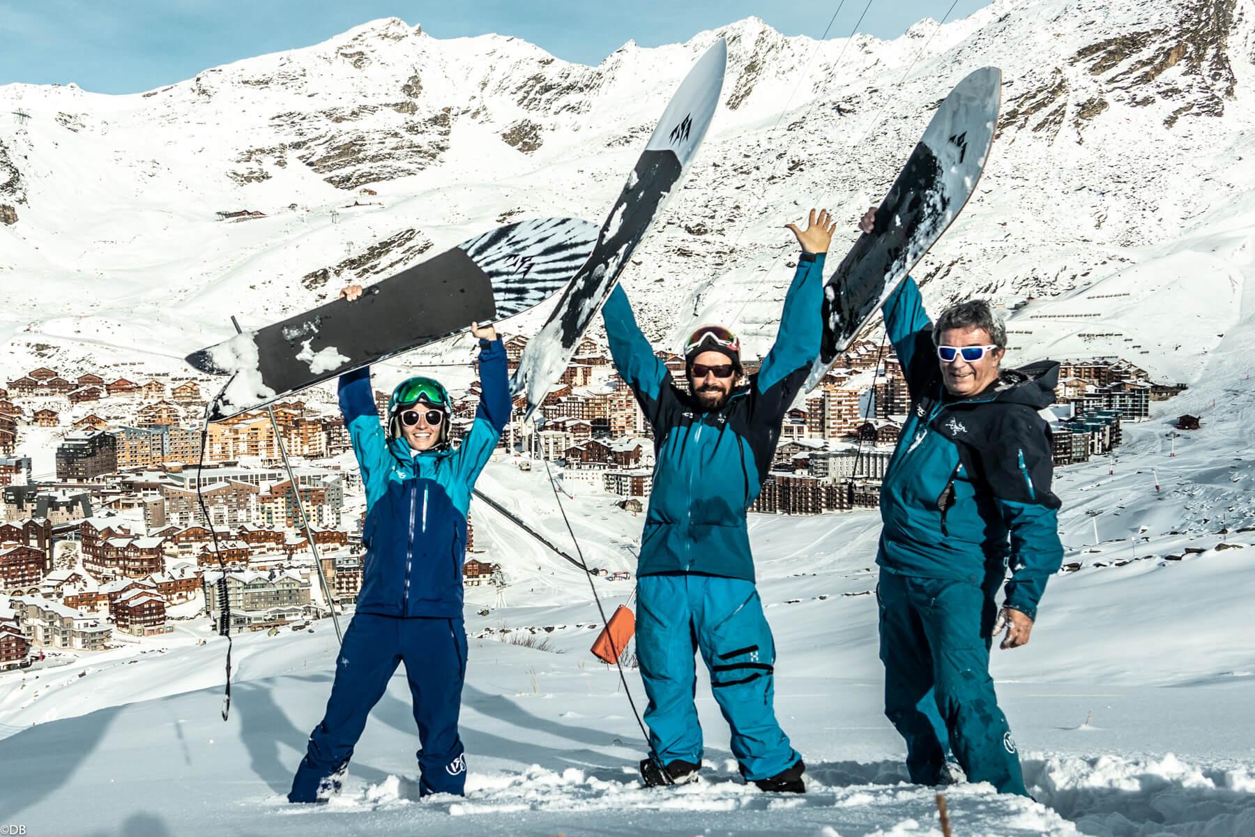Moniteurs de ski Cool en Powsurf à Val Thorens